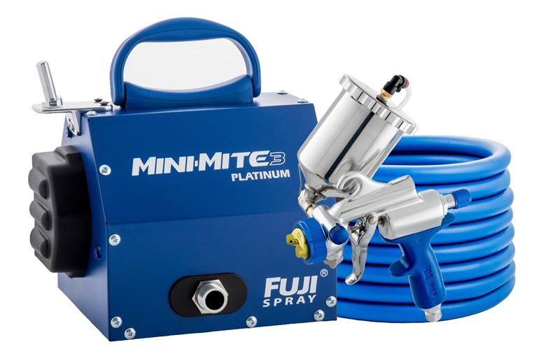 Hvlp Spray Gun Kit >> New Fuji Spray Mini Mite 3 Platinum G Xpc Hvlp Paint Sprayer System W Hvlp Kit